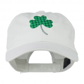 Clover Design Embroidered Cap