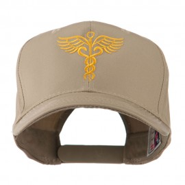 Original Medical Caduceus Outline Embroidered Cap - Khaki