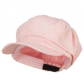Cotton Elastic Newsboy Cap-Pink