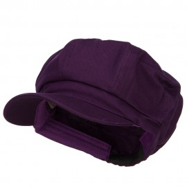 Cotton Elastic Newsboy Cap-Purple