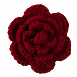 Large Crochet Flower Pin