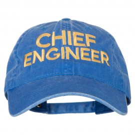 Chief Engineer Embroidered Unstructured Cotton Cap