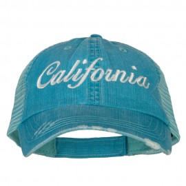 California Embroidered Low Profile Mesh Cap