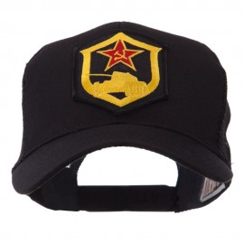 Combined Forces Military Patched Mesh Cap - Red Flag