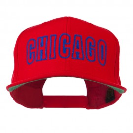 Chicago Embroidered Flat Bill Cap