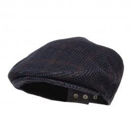 Men's Checkered Wool Blend Ivy Hat