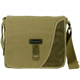 Canvas Messenger Bag with Holder