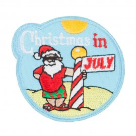 Christmas In July Embroidered Patch
