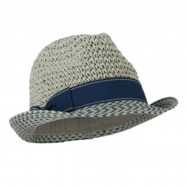 Crochet Crown Two Tone Brim Fedora