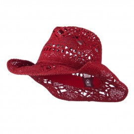 Solid Color Straw Cowboy Hat