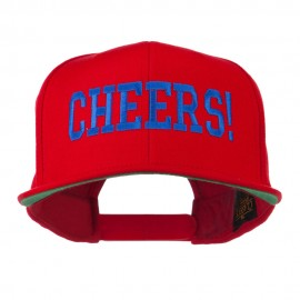 Cheers Embroidered Snapback Cap