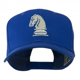 Chess Piece of a Knight Embroidered Cap - Royal