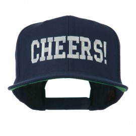Cheers Embroidered Snapback Cap - Navy