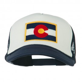 Colorado Flag Embroidered Foam Mesh Cap