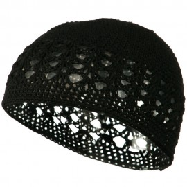 Cotton Kufi Cap - Black