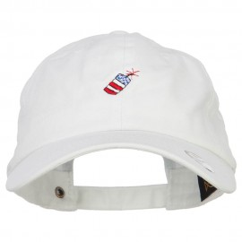 Mini Patriotic Firecracker Embroidered Unconstructed Cap