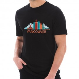 Downtown Vancouver Graphic Design Deluxe Jersey T-Shirt