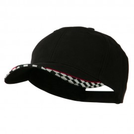 Brushed Cotton Imprinted Checker Logo Cap