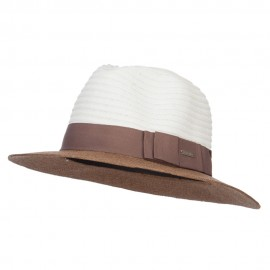 Color Block Panama Hat with Band