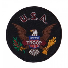 Army Circular Shape Embroidered Military Patch - Troop