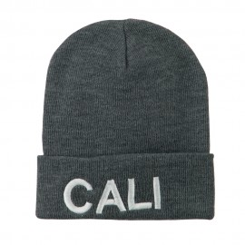 Wording of Cali Embroidered Beanie