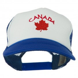 Canada with Maple Leaf Embroidered Foam Front Mesh Back Cap