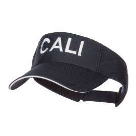 Wording of Cali Embroidered Mesh Visor