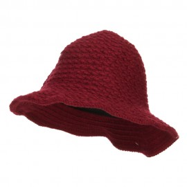 Women's Chenille Wired Brim Bucket Hat