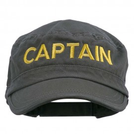 Captain Embroidered Enzyme Army Cap - Olive