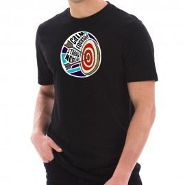 Calm and Focused Archery Graphic Design Short Sleeve Cotton Jersey T-Shirt