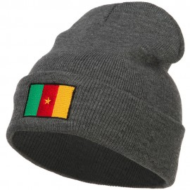 Cameroon Flag Embroidered Beanie