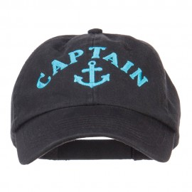 Captain Anchor Logo Embroidered Pet Spun Cap