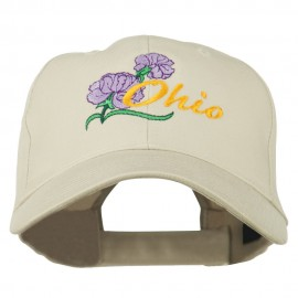 Ohio Carnation Flower Embroidered Cap