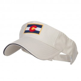 Colorado Flag Embroidered Cotton Sandwich Visor