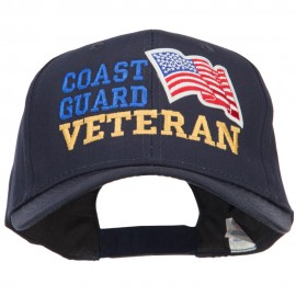 Wording of Coast Guard Veteran with Flag Patched Pro Cap