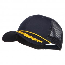 Captain Oak Leaf Trucker Cap - Navy