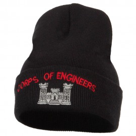 Corps of Engineers Embroidered Long Knitted Beanie