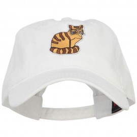 Cat Pet Patched Washed Cotton Twill Cap