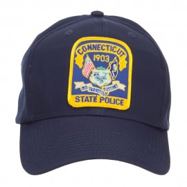 Connecticut Police Seal Patched Cotton Twill Cap