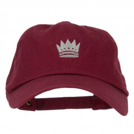 Chess Queen Embroidered Unstructured Washed Cap
