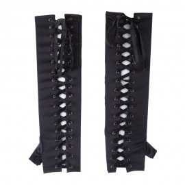 Women's Satin Corset Lace Up Arm Warmer