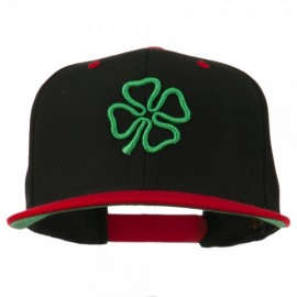3D Clover Embroidered Two Tone Snapback Cap
