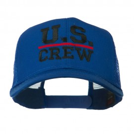 US Crew Embroidered Mesh back Cap