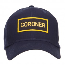 Coroner Text Law Forces Patched Cap