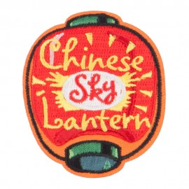 Chinese Sky Lantern Patch