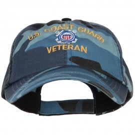 US Coast Guard Veteran Military Embroidered Enzyme Camo Cap