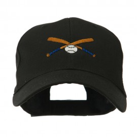 Small Crossed Bats and Ball Embroidered Cap