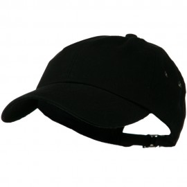 100% Organic Cotton Twill Cap - Black