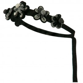 Felt Flower Chain Tie Back Hair Band