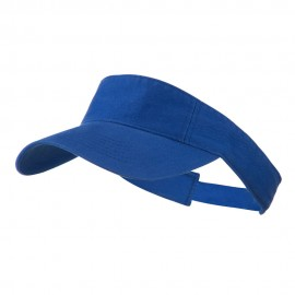 Cotton Twill Washed Soft Visor-Royal